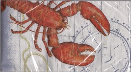 Red Lobster Nautical Paper Luncheon Napkins Lob... - $6.00