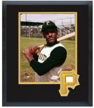 Roberto Clemente Pittsburgh Pirates - 11 x 14 Team Logo Matted/Framed Photo - $42.95