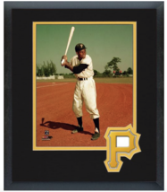 Roberto Clemente Pittsburgh Pirates - 11 x 14 Team Logo Matted/Framed Photo - $43.55