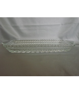Wexford Diamond Cut Glass Rectangle Relish Serving Dish - $7.90