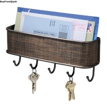 Wall Mount,Mail & Key Rack,Bronze,Storage,Organize,Hook,Holder,Decorate, Letter  - $24.95