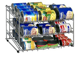 Soup Can Rack in Chrome from Organize It All, Storage,Stack,Dispenser,Fo... - £30.96 GBP