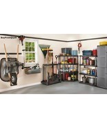Rubbermaid Deluxe Tool Tower, Rack, Caster,Storage,Organize,Hook, Broom,... - $1.584,66 MXN