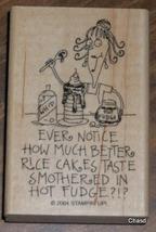 2004 Stampin Up Stamp- Rice Cakes and Hot Fudge - $5.00
