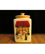 Nonni's Cafe Biscotti Square Storage / Cookie Jar / Coffie / Canister Wi... - $19.99