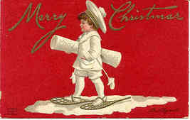 Merry Christmas Vintage 1911 Ellen Clapsaddle Post Card - $7.00