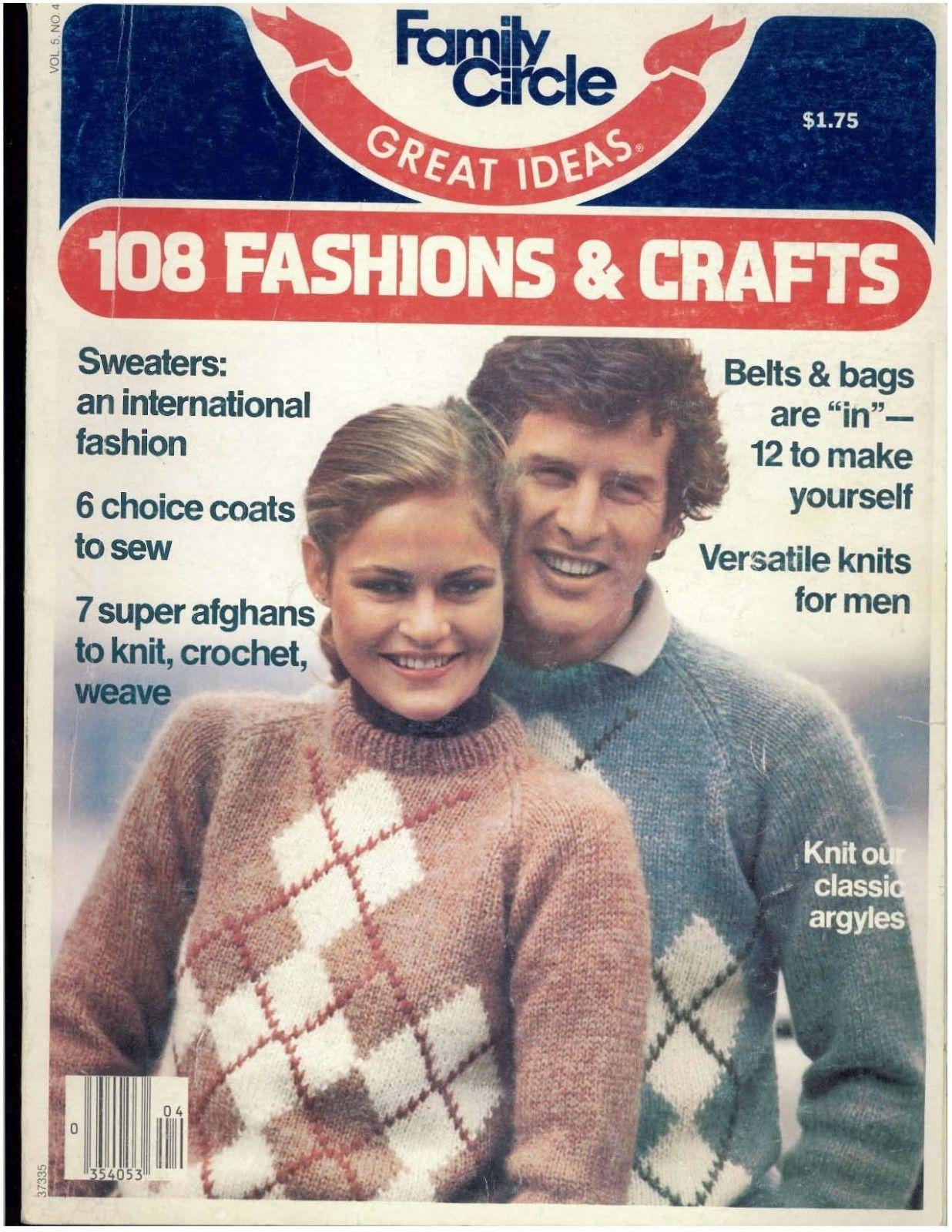 18bc67b5da1e Family Circle Vintage July 1979 Argyle and 50 similar items