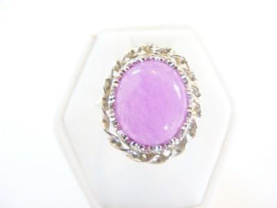 Lavendar Jade Ring Sterling Size 6.5 Bonanza