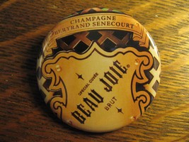 Champagne Bertrand Senecourt Beau Joie Brut Wine Advertisement Lapel But... - $19.79