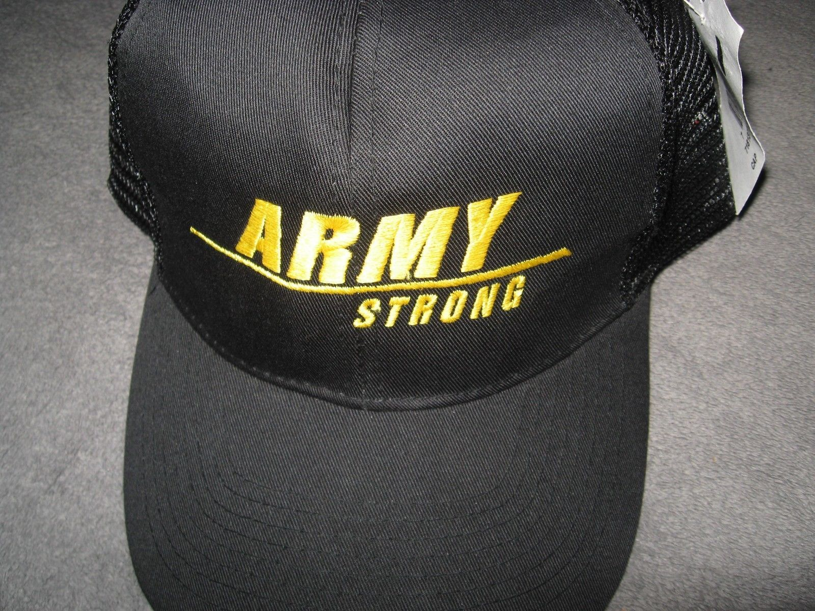 USA United States Army Strong Military Black Embroidered Mesh Back Baseball Cap