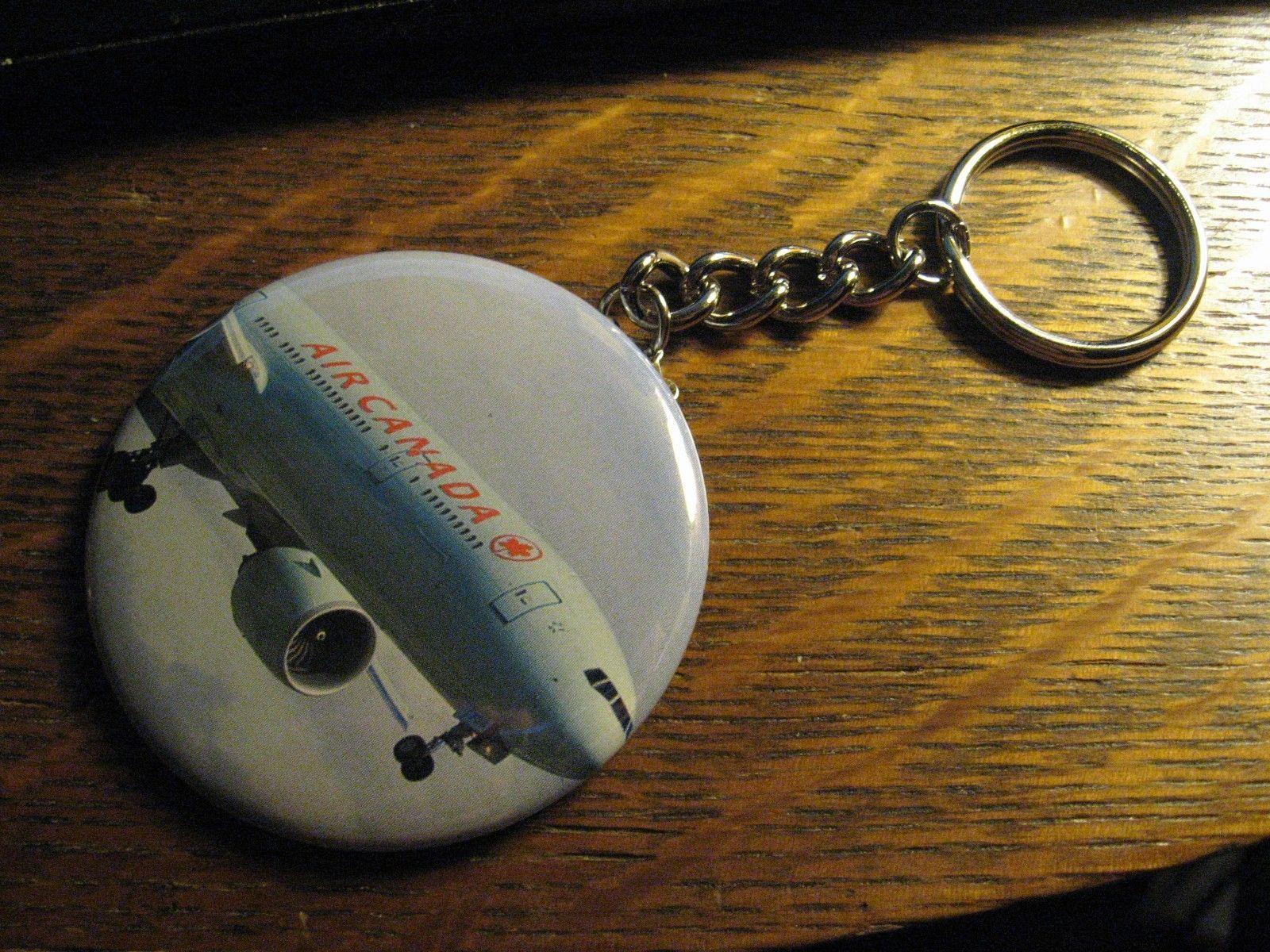 Air Canada Boeing 777 Logo Advertisement Keychain Backpack Purse Clip Ornament