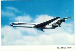 BOAC British Overseas Airways Corporation Vickers VC10 Airplane Vintage ... - $19.79