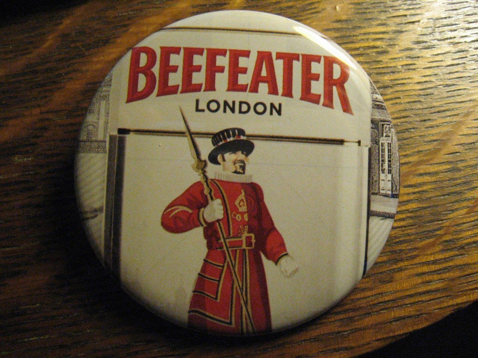Beefeater London England Vodka Bottle Label Logo Advertisement Lapel Button Pin