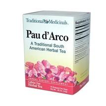 Traditional Medicinals Pau D'arco Herbal Tea - 16 Tea Bags - Case Of 6 - $32.62