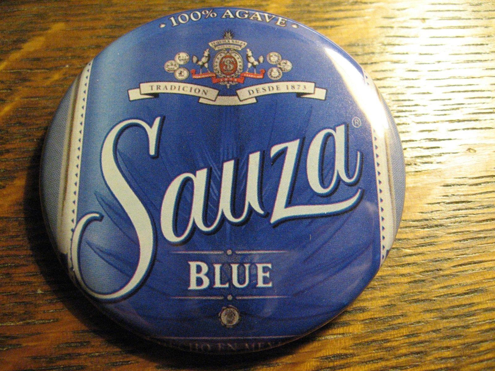 Sauza Blue Agave Tequila Mexico Logo Bottle Label Advertisement Lapel Button Pin