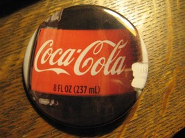 Coca Cola Coke Soda Pop 8 Ounce Bottle Label Logo Advertisement Lapel Bu... - $19.79