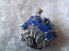 BLUE SAPPHIRE PENDENT. MARKED 925, NEW - £7.57 GBP
