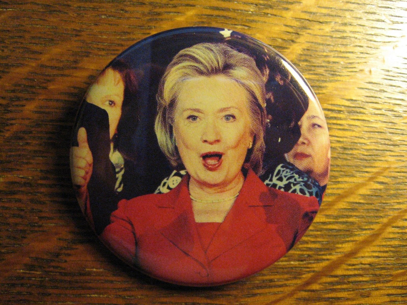 Hillary Clinton USA President Candidate Secretary Of State Lapel Button Pin