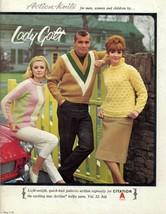 Lady Galt Vintage 1960's Action Knit Knitting Sweater Mens Wms Kids Patt... - $24.74