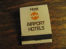 Host Airport Hotels Detroit Houston Sacramento Tampa Vintage Matchbook M... - $19.79