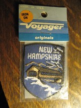 New Hampshire USA Covered Bridge Vintage Voyager Embroidered Sewn Jacket Patch - $19.79