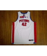 Authentic Nike Detroit Pistons Jerry Stackhouse 42-White/Red/Blue Home J... - $149.99