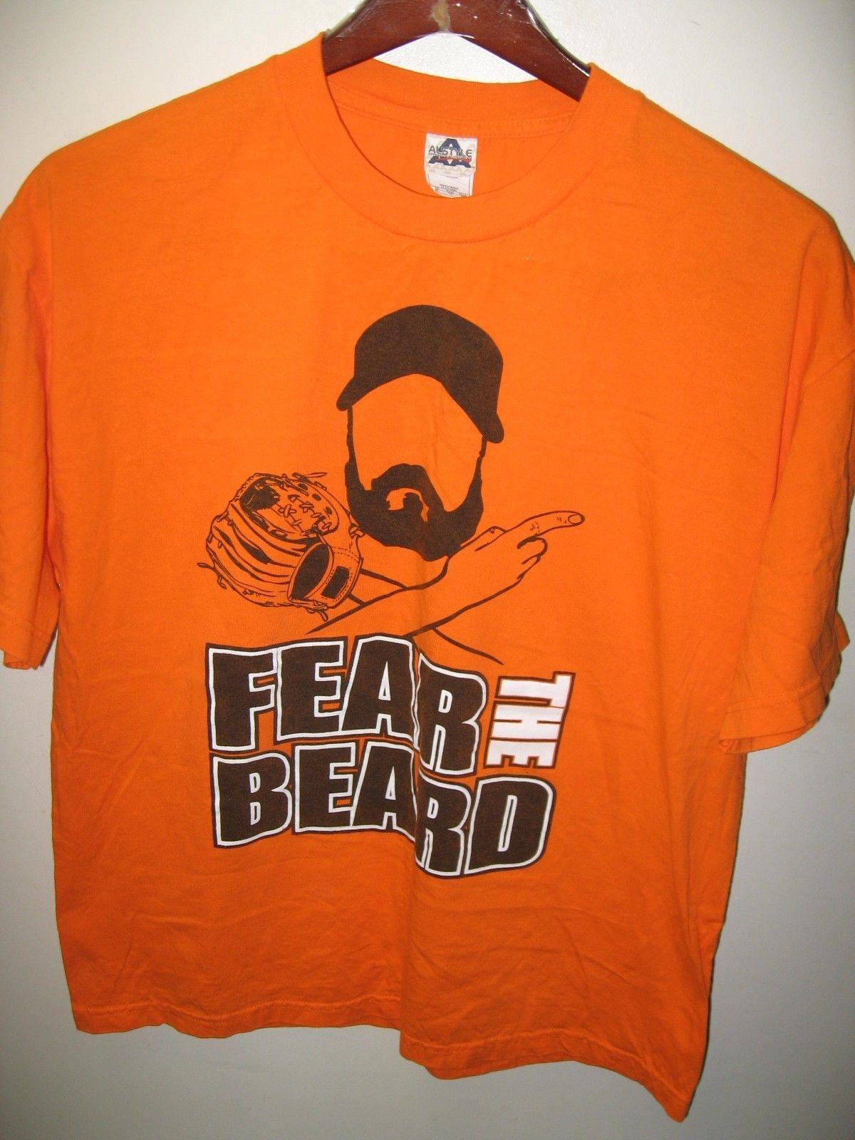 San Francisco Giants California Baseball Brian Wilson Fear The Beard T Shirt XLg
