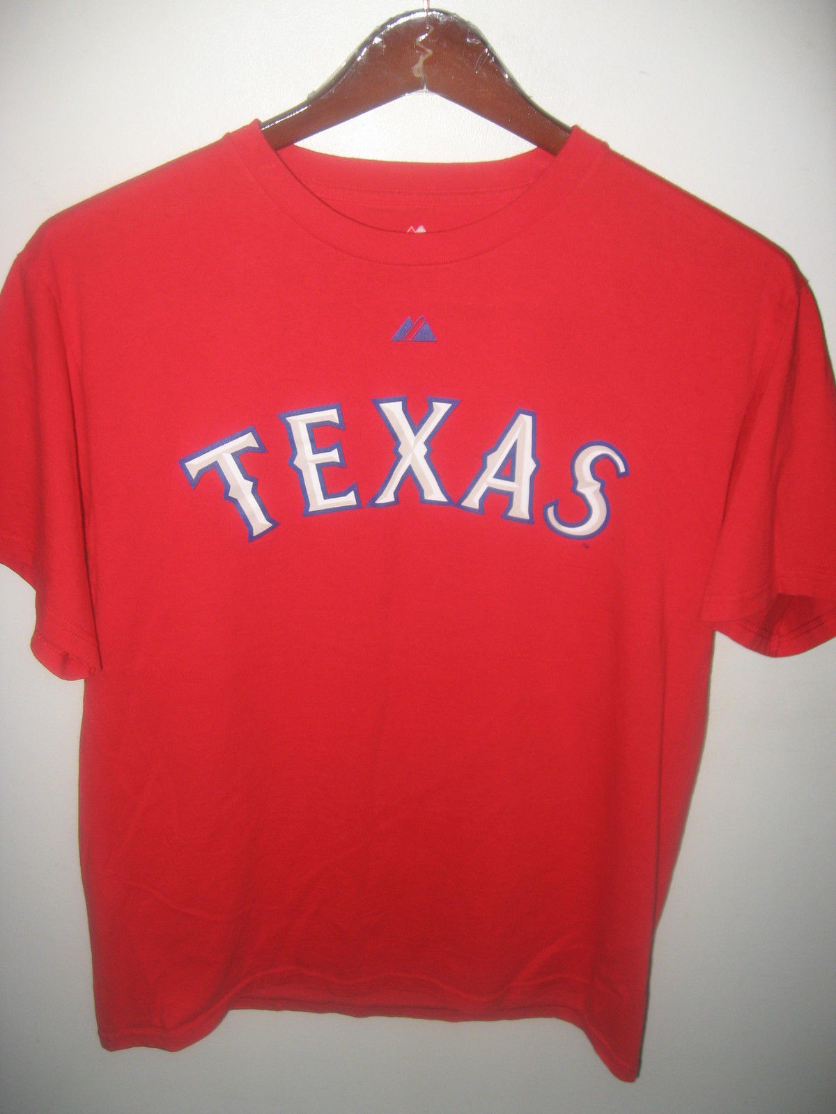 Texas rangers baseball team josh hamilton 32 red majestic for Texas baseball t shirt