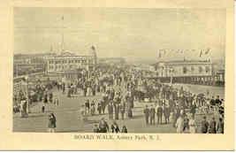 The Boardwalk Asbury Park New Jersey Vintage Post Card,  - $5.00