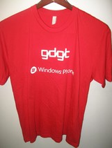 """GDGT Microsoft Windows Phone Cell Telephone """"Want"""" Logo Promo Red USA T Shirt XL - $29.69"""