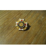 V.F.W. VFW Veterans of Foreign Wars Ladies Auxiliary Gold Tone USA Lapel... - $19.79