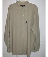 X-Large Brand Mens Dress Shirt Long Sleeves Brown Tan Pin Stripes Size L... - $8.98