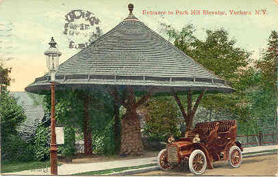 Park hill elevator yonkers new york post card vintage 1909 for Home goods in yonkers