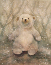 "Fine art card  ""Snow Bear"" reproduced from an o... - $4.00"