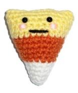 Plush Candy Corn Critter with Cute Amigurumi Kawaii Style Face - $9.00