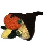 Plush Cornucopia Horn of Plenty with Corn Cob Pumpkin and Gourds - $28.00