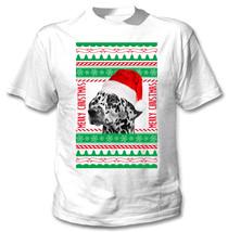 DALMATANIAN REAL UGLY CHRISTMAS - NEW COTTON WHITE TSHIRT - $25.75
