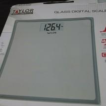 Taylor Precision Products Glass Digital Bath Scale Gray NEW Open Box - $14.84