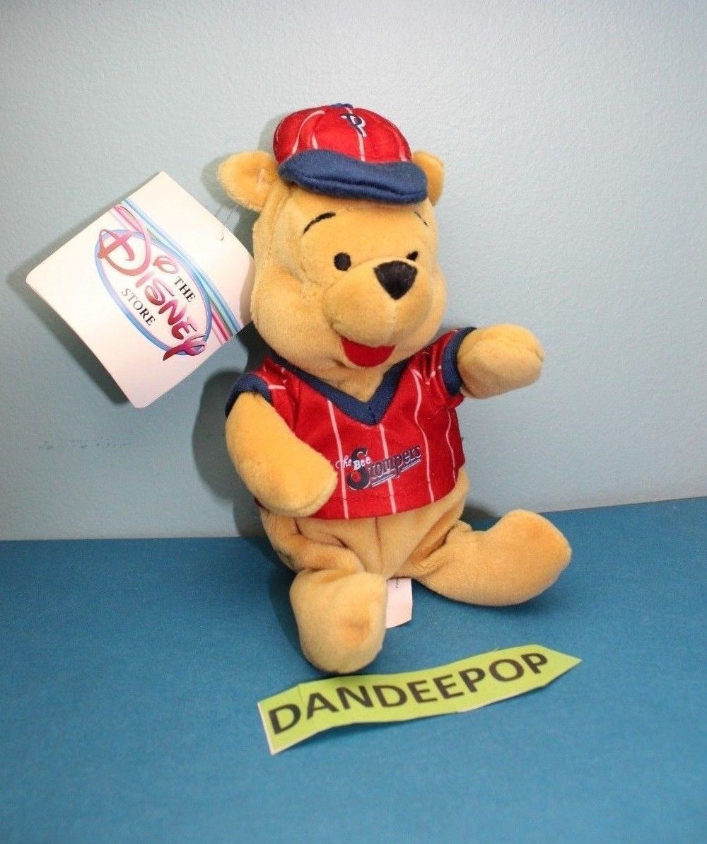 Primary image for Walt Disney Store And Parks Mini Bean Bag Baseball Winnie The Pooh Bee Stompers