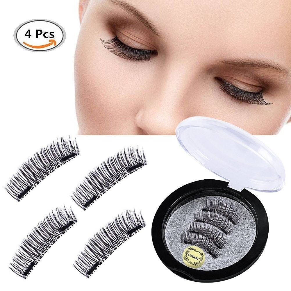 Primary image for Double Magnet False Eyelashes , Magnetic Eyelashes , 3D Natural Reusable Eyelash