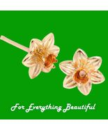 Daffodil Flowers Welsh Rose Gold Detail 9K Yell... - $530.00