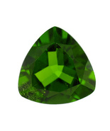 .50ct 6x6mm Trillion Chrome Diopside - $22.00
