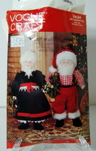 Vogue Craft #8434 Linda Carr Design Mr. and Mrs. Claus Patterns & Instru... - $9.95