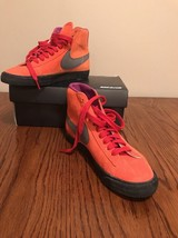 Nike Id Orange Suede Hightops New In Worn Box Size 8 - £30.22 GBP
