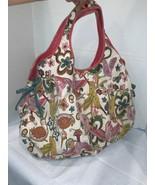 Lucky Brand Hummingbird & Flowers Tote Bag Canvas Shopper Travel Gym Ove... - $39.99