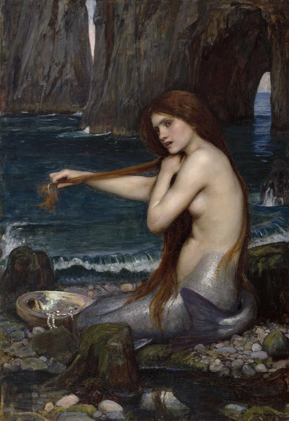A mermaid 24 x 36 waterhouse