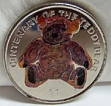 BVI TEDDY BEAR CENTENARY 2002 COLOR CUNI COIN UNC - $26.45