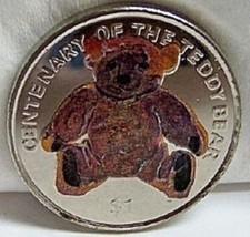 BVI TEDDY BEAR CENTENARY 2002 COLOR CUNI COIN UNC - $26.45