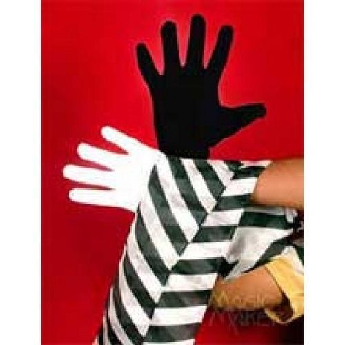 Black & White Gloves To Zebra Streamer Stage Magic Props Accessories - $9.89