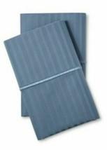 Fieldcrest 500 thread count Stripe Satin  King Pillowcases Rig Blue -NEW! -Sizes image 1